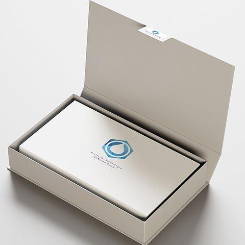 Visitenkarten in einer Box